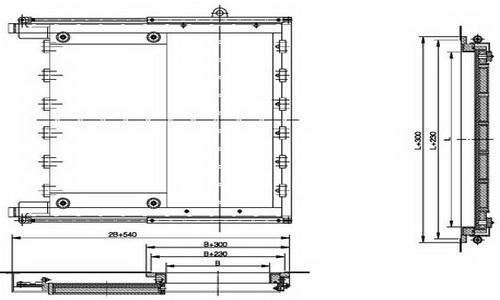 A60 hydraulic watertight sliding door