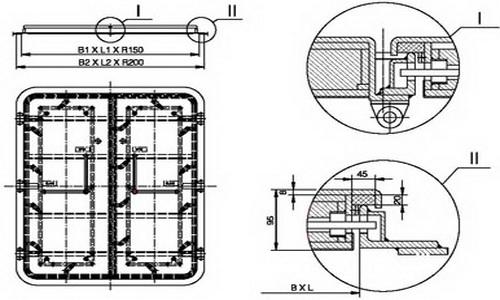 A60 weathertight double leaf steel door