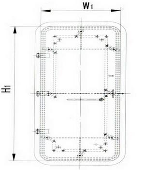 A60 weathertight steel door