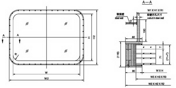 H120 fireproof window