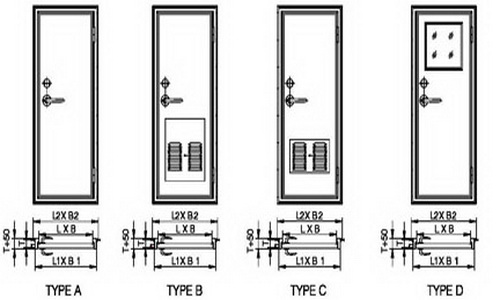 aluminium cabin hollow door