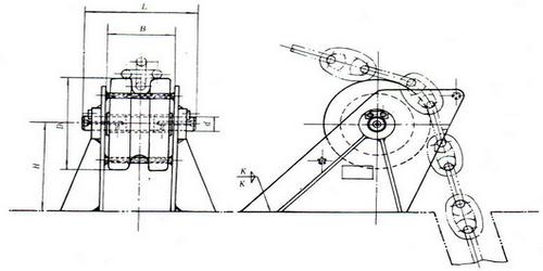 chain wheel for hawse pipe