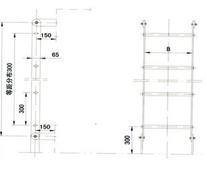 drawing for marine steel vertical ladder