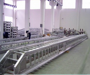 fixed arc step aluminium accommodation ladder
