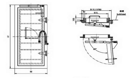 hydraulic watertight sliding door(b)