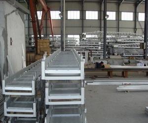 lever-plate type aluminium wharf ladder