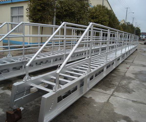 marine aluminium outward expending accommodation ladder