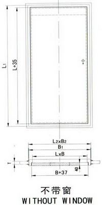 steel soundproof airtight door