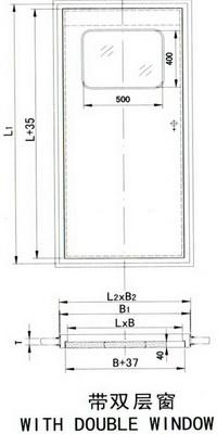 steel sounproof airtight door(b)