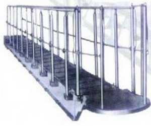 turnable treads steel accommodation ladder