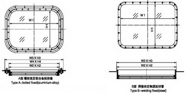 wheelhouse fixed rectangular window