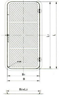 wire mesh door(a)
