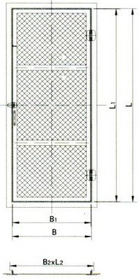 wire mesh door(b)