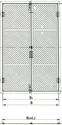 wire mesh door(c)