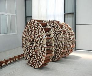 wooden embarkation ladder
