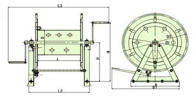 steel wire mooring reel