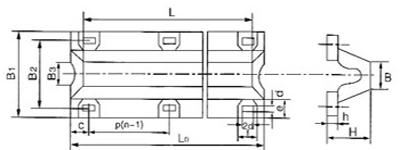drawing of type V rubber fender