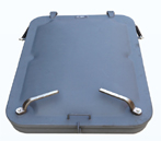 stealth light type watertight hatch cover