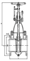 cast iron flanged gate valve