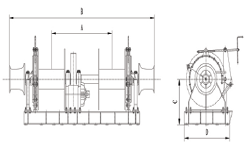 hydraulic combined mooring winch(two drum)