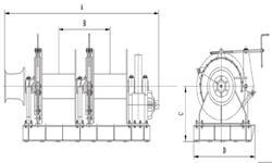 hydraulic single mooring winch(two drum)