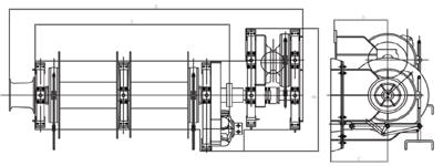 hydraulic single windlass(double shaft)