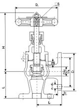 marine bronze flanged angle stop valve
