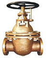 marine bronze flanged gate valve