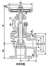 marine bronze flanged straight stop valve