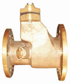 marine bronze straight type storm valve