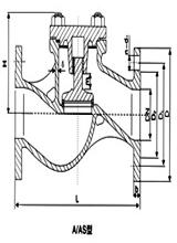 marine cast steel flanged check valve(A)