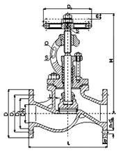 marine cast steel flanged stop valve(A)
