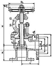 marine cast steel flanged stop valve(Bs)