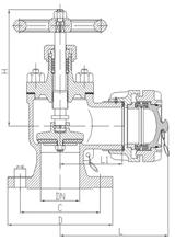 marine flanged bronze fire hydrant valve