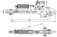 pneumatic-spring-towing-hook
