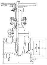 Marine API Bronze Flanged Gate Valve.dwg