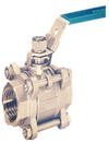 Marine API NPT 3 PC Socket Weld Bronze Ball Valve