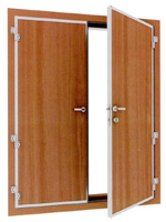 class A60 double leaf weathertight and gastight door