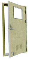 class B-15 single leaf fireproof door