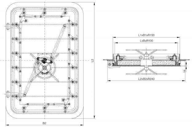A60-hinge-pressure-watertight-door
