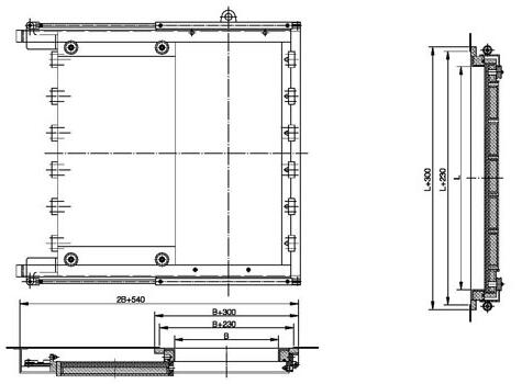 A60, A0 Hydraulic watertight sliding door