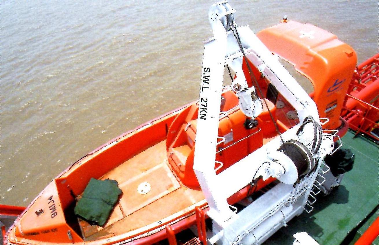 Type A fast rescue boat davit