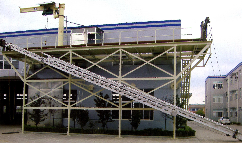 Telescopic accommodation ladder