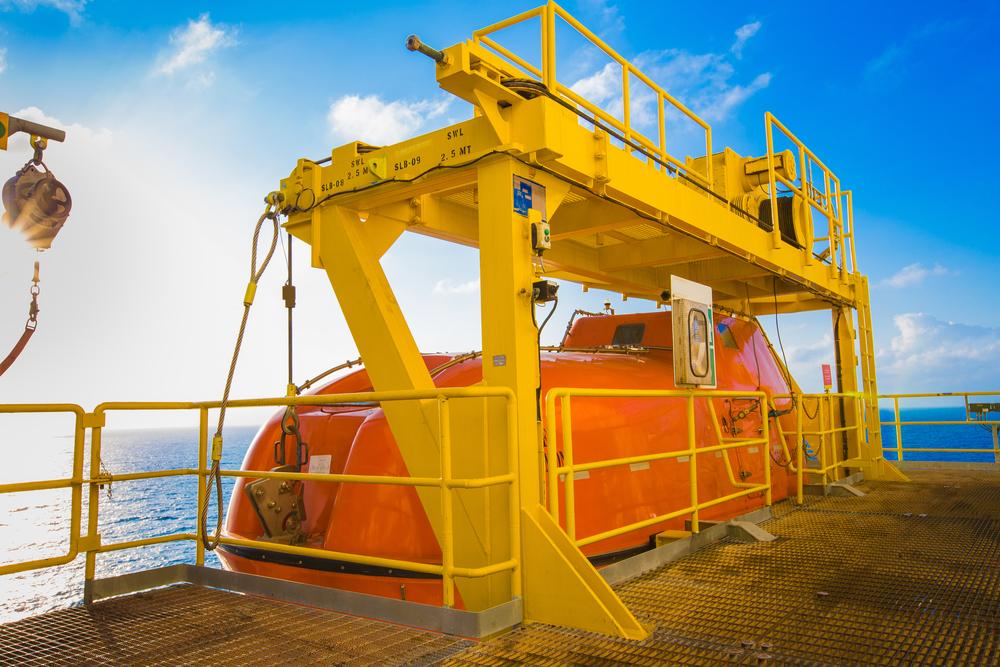 platform offshore davit