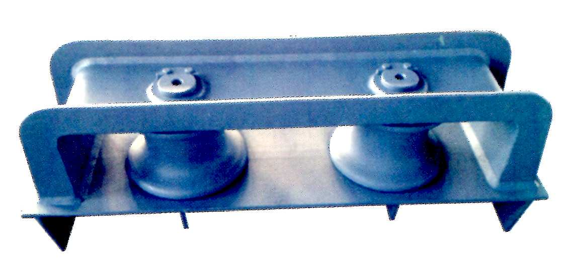 closed type two-roller fairlead