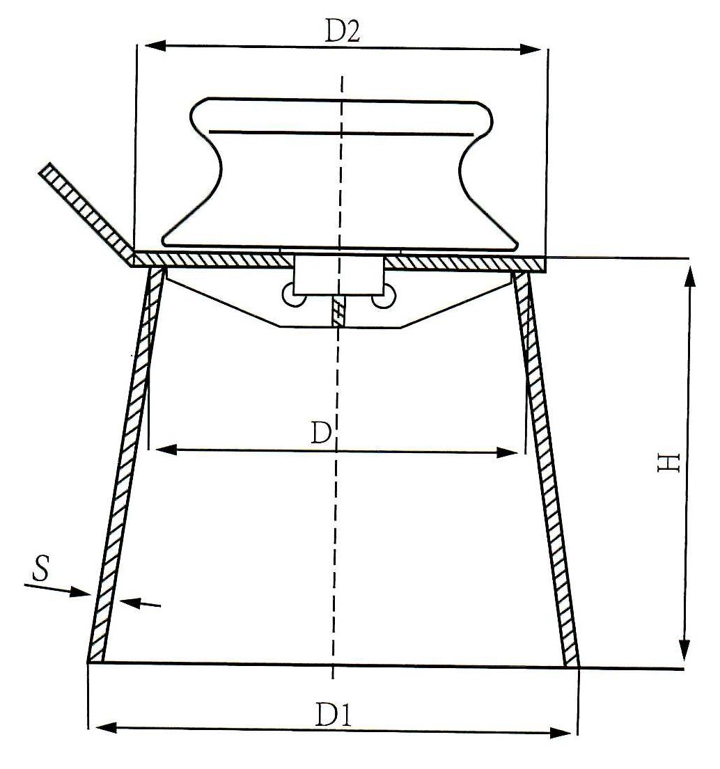 warping roller with pedestal type B