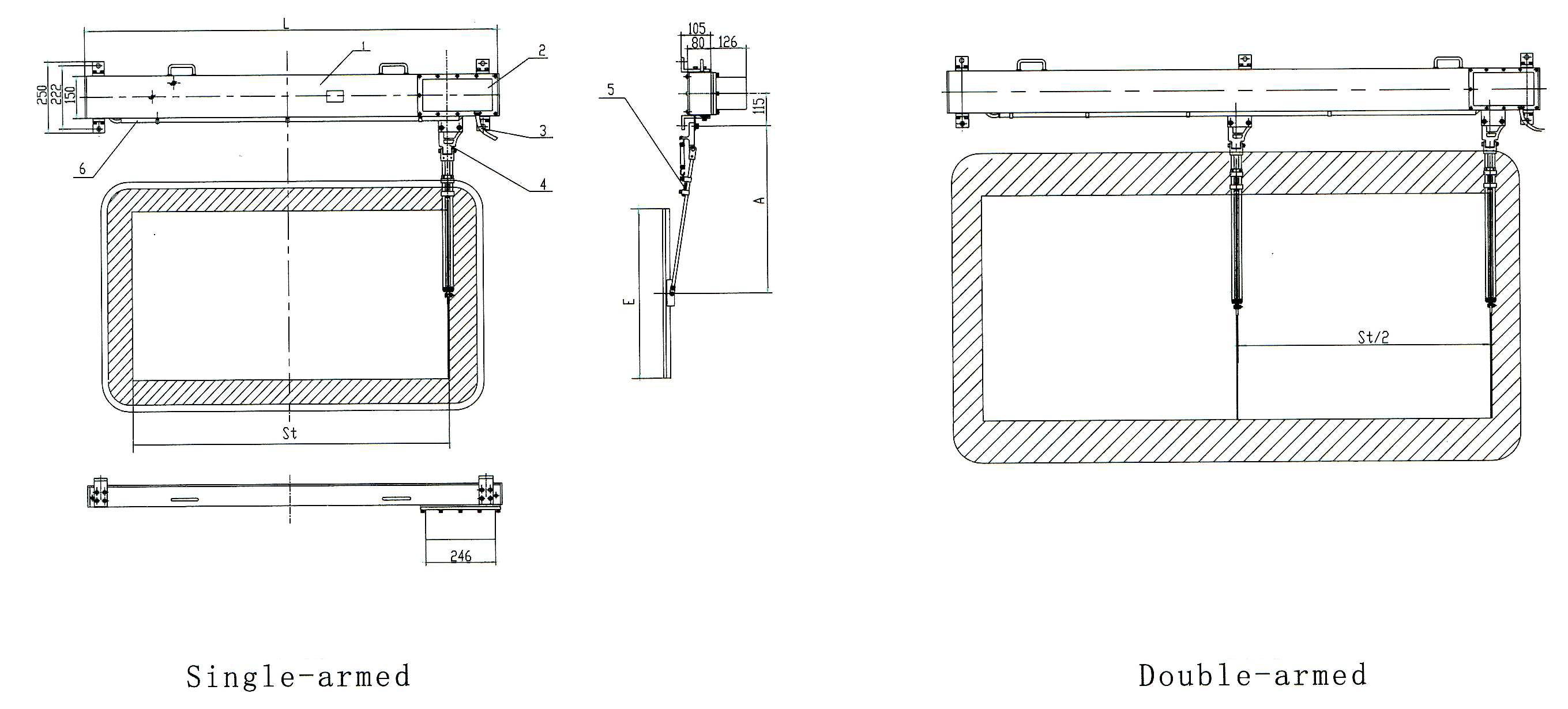 wgp2 marine horizontal electric window wiper  u2013 bosunmarine
