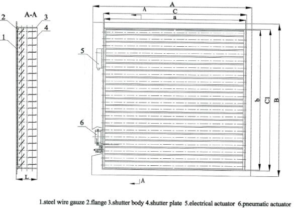 TBC type two-tire ventilation shutter