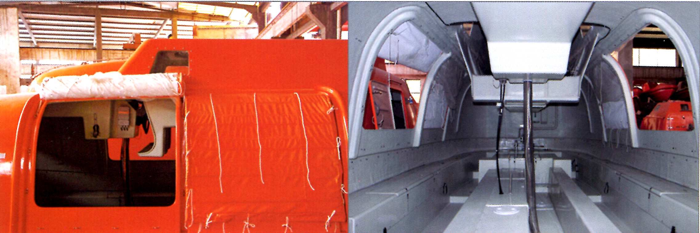 partially enclosed lifeboat